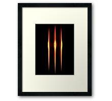 3 lines Framed Print
