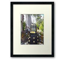 Dalek  letterbox Framed Print