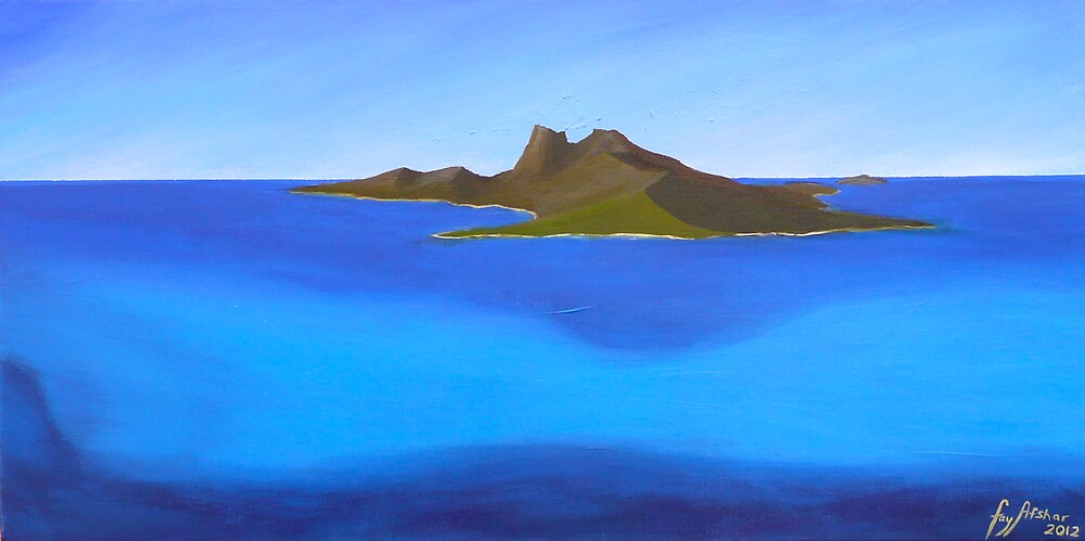 """The Solomon Islands - Acrylic Paint - 15"""" by 30"""" by fayafshar"""