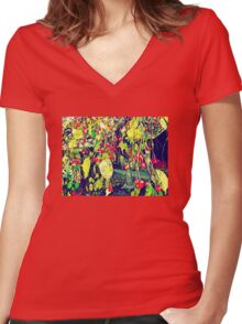 Low Hanging Fruit Women's Fitted V-Neck T-Shirt