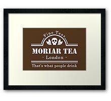 MoriarTea - Brown Framed Print