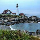 Maine Morning At Portland Head Light by Carolyn  Fletcher