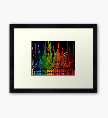 Crayon Inferno Framed Print