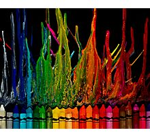 Crayon Inferno Photographic Print