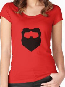 Troy & Abed Evil Moustache Women's Fitted Scoop T-Shirt
