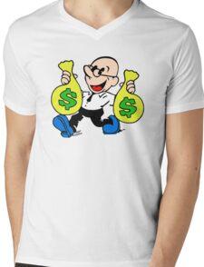 Community Dean with Money Mens V-Neck T-Shirt