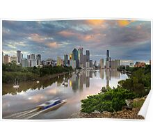 Sunrise on the Brisbane River Poster