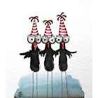 Three dancing crows by StressieCat