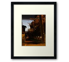 Pavement and Shadows Framed Print