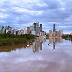Pre-Dawn Brisbane River by Jennifer Bailey