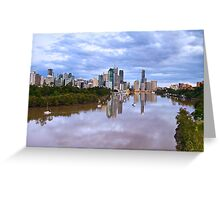 Pre-Dawn Brisbane River Greeting Card