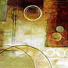 Squares Circles Lines Oil Painting 2 by Fred Seghetti