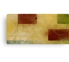Squares Circles Lines Oil Painting 1 Canvas Print
