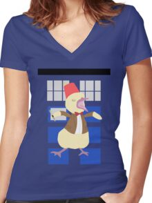 12th Ducktor Women's Fitted V-Neck T-Shirt