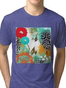 Bali I Abstract Collage Fine Art Tri-blend T-Shirt