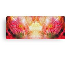 Abstract Flowers Oil Painting 9 Canvas Print