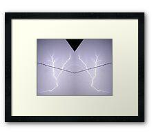 Lightning Art 10 Framed Print
