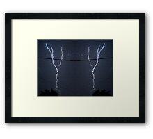 Lightning Art 11 Framed Print