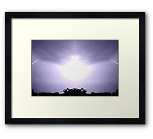 Lightning Art 12 Framed Print