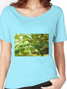 Selective focus on the branch of a tree closeup Women's Relaxed Fit T-Shirt