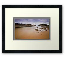 Forster Rocks Framed Print
