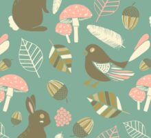 Cute Woodland Pattern Sticker