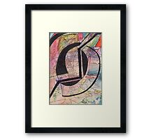 Abstract Watercolor+Pen Framed Print