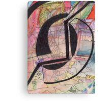 Abstract Watercolor+Pen Canvas Print