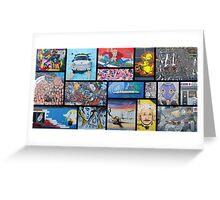 Berlin Wall Art Greeting Card