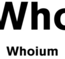 Whoium - The Doctor Who Element Sticker