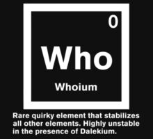 Whoium - The Doctor Who Element by daeryk