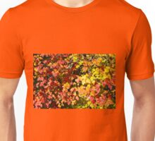 Background of bright red maple leaves Unisex T-Shirt
