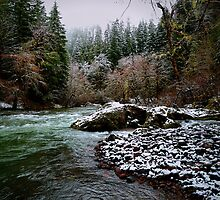 Santiam River And Snow by Charles & Patricia   Harkins ~ Picture Oregon