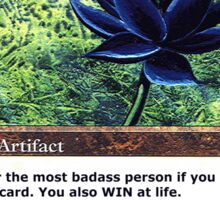 "MTG ""Black Lotus"" Magic the Gathering Win at Life Game Over Sticker"
