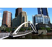 Melbourne Skyline at South Gate  Photographic Print