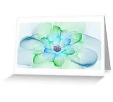 Peacock Pastel Greeting Card