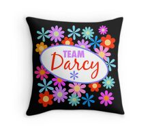 Team Darcy Flower Power Throw Pillow