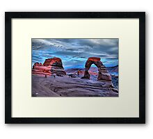 Delicate Arch at Sunset Framed Print