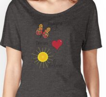 Imagine Dream Believe Women's Relaxed Fit T-Shirt