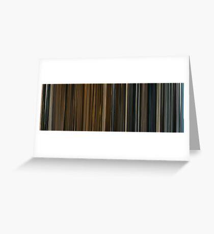 Moviebarcode: Melancholia (2011) Greeting Card