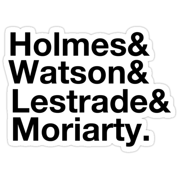 Holmes&Watson&Lestrade&Moriarty by Kacie Carter