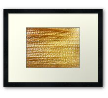 Woven gold? SOLVED by MISFITS herself! Framed Print