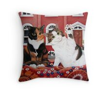 Daisy and Millie Throw Pillow