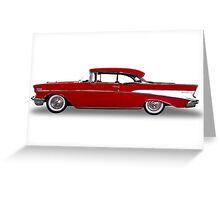 Chevrolet - 1957 BelAir Coupe Greeting Card