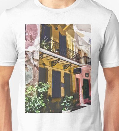 Colorful Vintage Hotel in Latin America Unisex T-Shirt