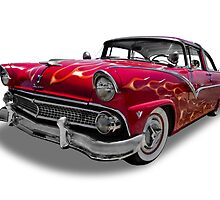Ford - 1955 Fairlane Coupe Sedan by axemangraphics