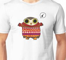 Little Owl is ready for festivities  Unisex T-Shirt