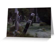 Tilted Gravestone Greeting Card