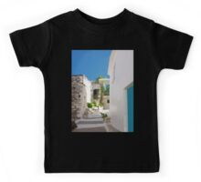 Lots of Steps and Whitewashed Buildings in Greece Kids Tee