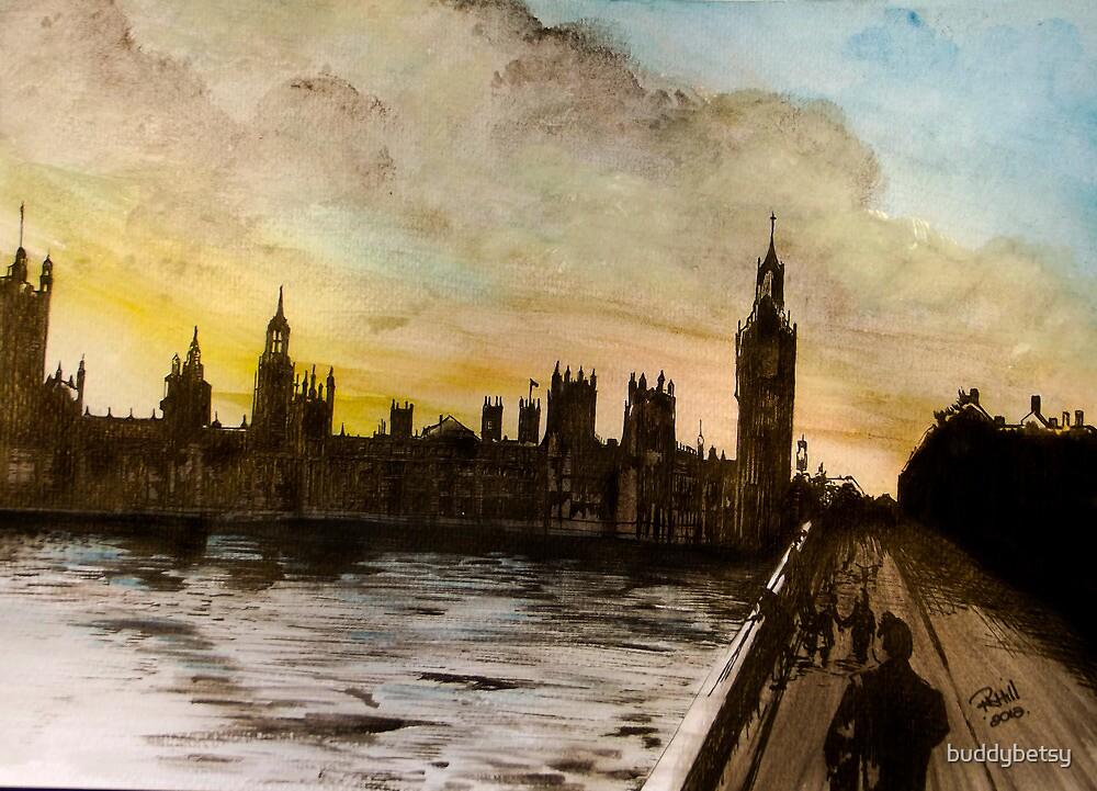 Westminster skyline by buddybetsy
